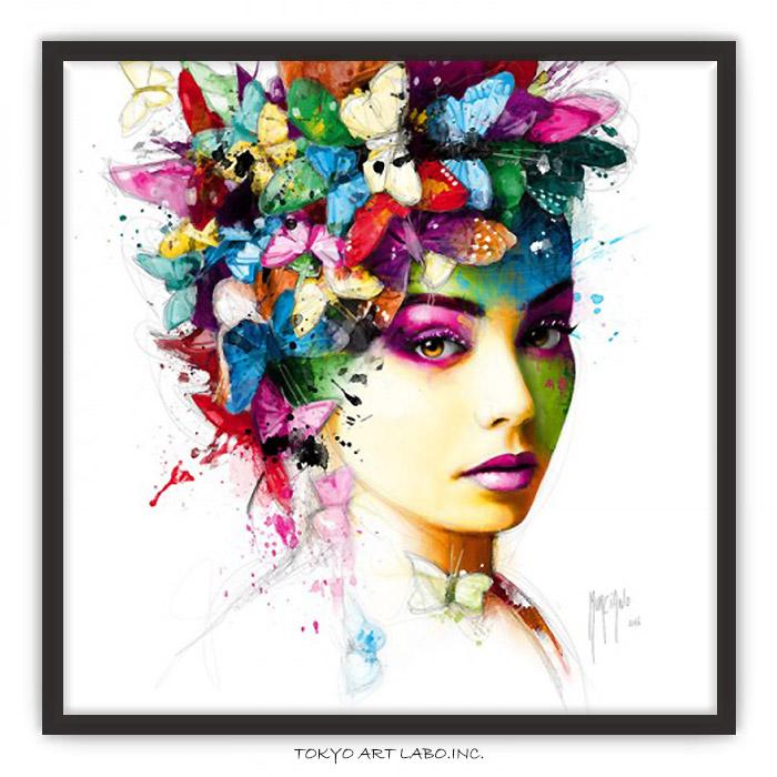 絵画 インテリア アートポスター /L'Effet Papillon 蝶 壁掛け 額入り 額付き 壁 飾る 絵 モダン おしゃれ 大きいサイズ 額絵 有名 カラフル おすすめ