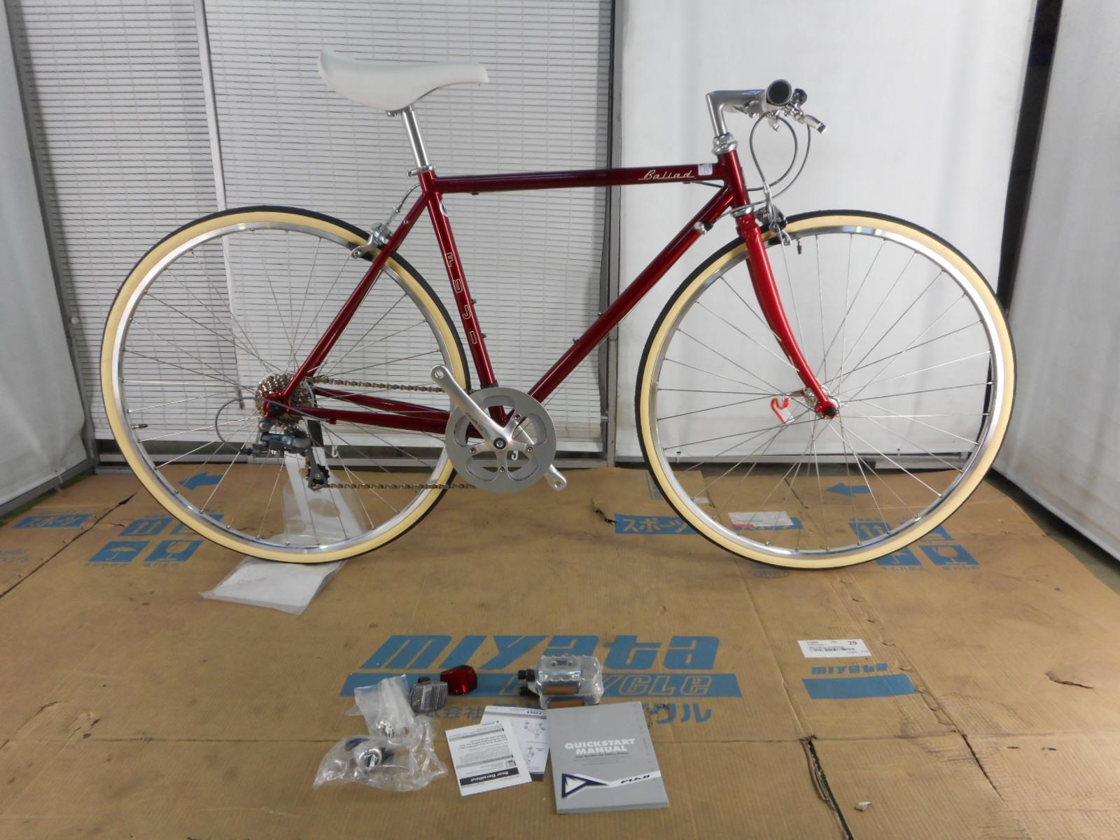【整備済】【35%OFF】2016FUJI(フジ) BALLAD【アウトレットキズ有り】Bordeaux 49cmクロモリクロスバイク 在庫限り