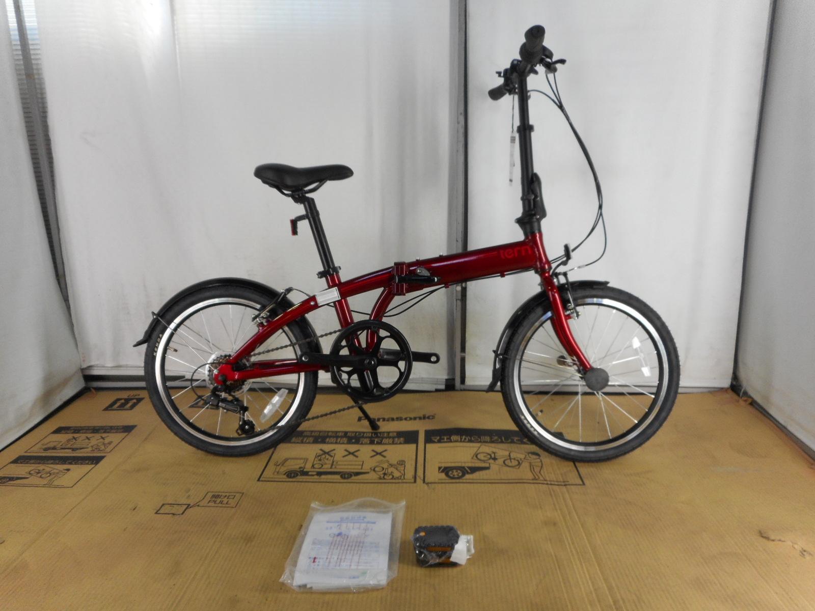 【整備済】【30%OFF】アウトレット2018Tern(ターン)LINK A7(リンクA7) Dark Red/Red 折りたたみ自転車 在庫限り