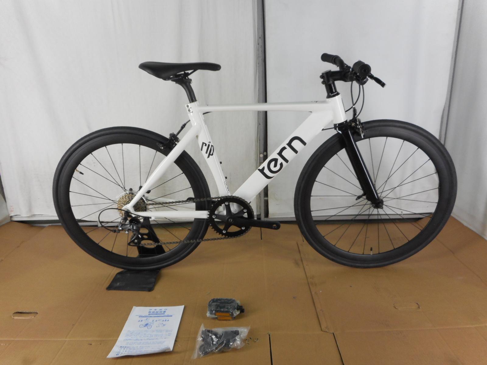 【整備済】【30%OFF】アウトレット2019Tern(ターン) RIP WHITE 46cm アルミクロスバイク
