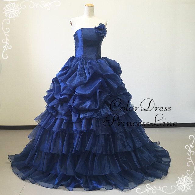 It is organdy colored racesless ★ princess line ★ (navy-blue) of being soft 50774 size order gorgeousness