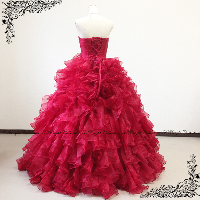 It is Cute ♪ lustrous luster dress ★ Princess ★ (wine red) 30189 in size order Shin pull