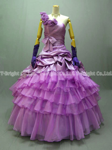 Sizes g. poop around a gorgeous dress ★ Princess ★ (purple) purple size given wedding dress ★ 51921