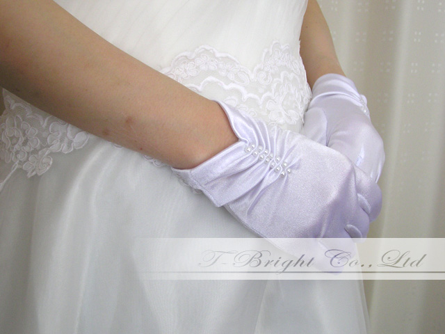 Dress glove (g200) which there is a wedding glove (white) short glove short glove finger in