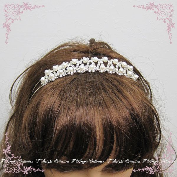 Tiara headband wedding tiara wedding ceremony wedding accessory headdress crown wedding accessories pearl rhinestone hair ornament (t-208)