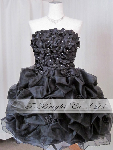 Back laceup colored racesless ★ minidress ★( black) 51092 which is Cute of the size order chest floret