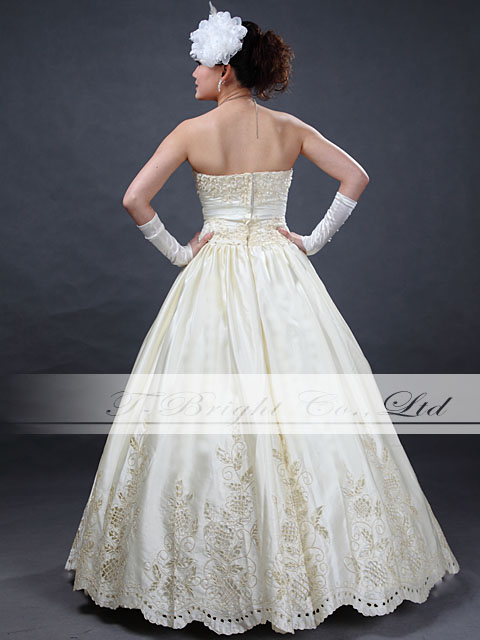 Size order cut race wedding dress ★ princess line ★ ivory: tb336