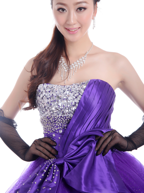 Custom dress ★ Princess ★ (purple) purple size given wedding dress ★ tb519
