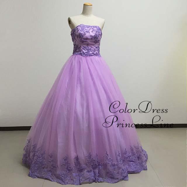 3a090dc7feac8 プリンセスライン ラベンダー お客様サイズでお作りしますカラードレス ...