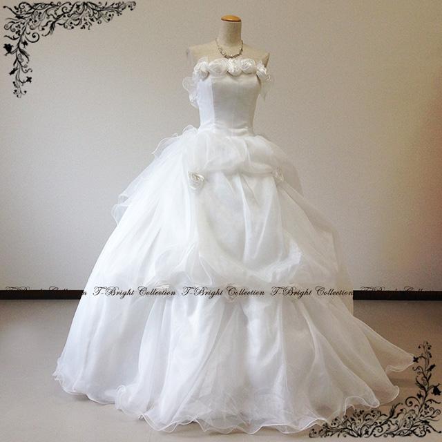 Popular wedding dress ball gown flower organge r wedding dress (off-white) 30,225