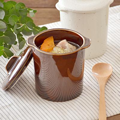 茶碗蒸し 和カフェスタイル ジャポネココット蓋付(アメ)