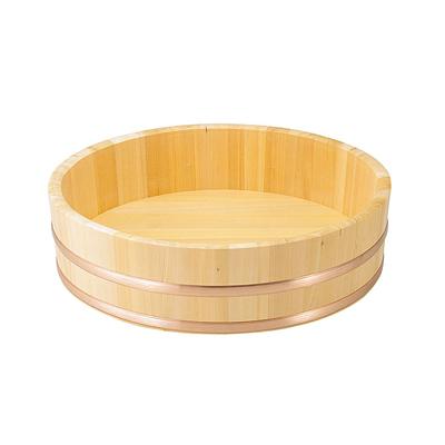 椹 大半切(銅タガ・底竹補強付) 直径54cm      日本製/木/木製/ご飯/おひつ/業務用