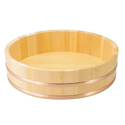 椹 大半切(銅タガ・底竹補強付) 直径75cm      日本製 木 木製 ご飯 おひつ 業務用