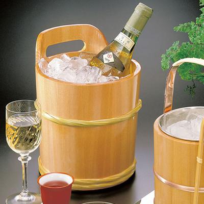 椹ワインクーラー   日本製/木/木製/ワイングッズ/冷酒クーラー/業務用/酒の器/酒器