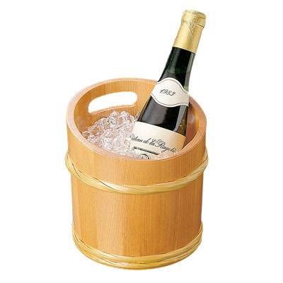 椹・竹型冷酒ワインクーラー   日本製 木 木製 ワイングッズ 冷酒クーラー 業務用 酒の器 酒器