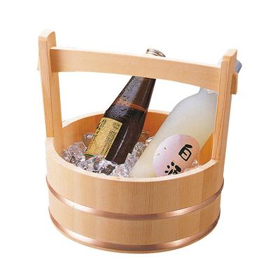 岡持型冷酒クーラー(銅タガ)   日本製/木/木製/ワイングッズ/冷酒クーラー/業務用/酒の器/酒器