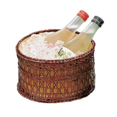 椹・冷酒クーラー(篭付)   日本製/木/木製/クーラー/業務用/酒の器/酒器/キッチングッズ