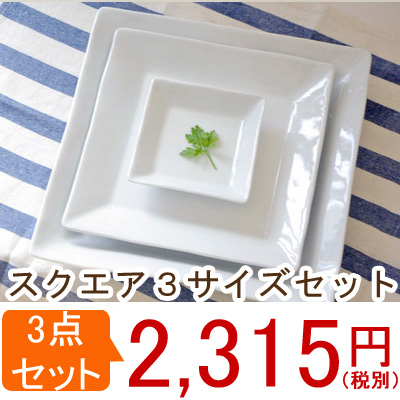 Clear white square stainless 3 (BASIC STUDIO) / white Dinnerware square plate / hotel kitchen / high quality / gift / Café / lunch plate and  sc 1 st  Rakuten & Table ware East | Rakuten Global Market: / Clear white square ...