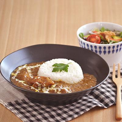 (黒マット)EASTパスタ・カレー皿