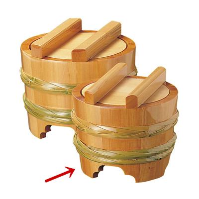 椹・釜揚桶 小(ST-18)       日本製/かまあげ/木製/うどん/おけ/業務用