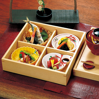 檜・松花堂弁当 (重ね蓋)木製/日本製/お弁当箱/おべんとうばこ/ナチュラル/ボックス/業務用