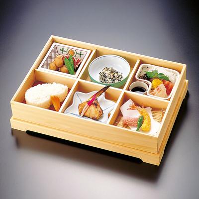 檜・六ツ切松花堂弁当(大)木製/日本製/お弁当箱/おべんとうばこ/ナチュラル/ボックス/業務用