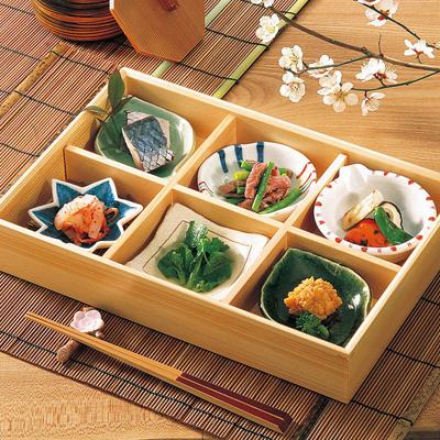 檜・六ツ切松花堂弁当(小)木製 日本製 お弁当箱 おべんとうばこ ナチュラル ボックス 業務用