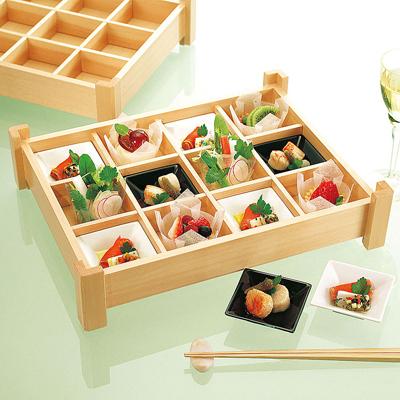 白木隅足 十二仕切盛込木製 日本製 お弁当箱 おべんとうばこ ナチュラル ボックス 業務用