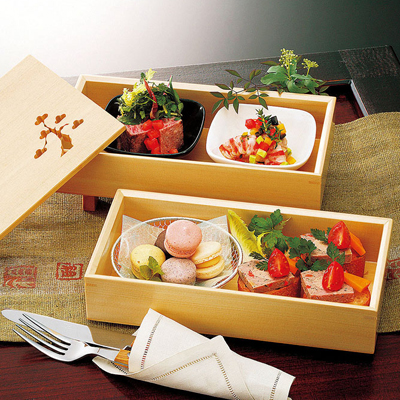 檜・松風二段弁当木製/日本製/お弁当箱/おべんとうばこ/ナチュラル/ボックス/業務用