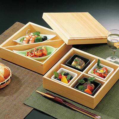 檜・6.5寸二段料理箱(蓋付)木製/日本製/お弁当箱/おべんとうばこ/ナチュラル/ボックス/業務用