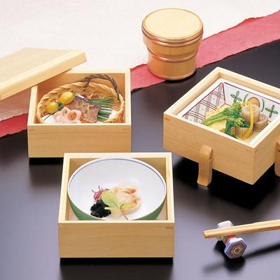 檜・唐びつ三段弁当木製/日本製/お弁当箱/おべんとうばこ/ナチュラル/ボックス/業務用
