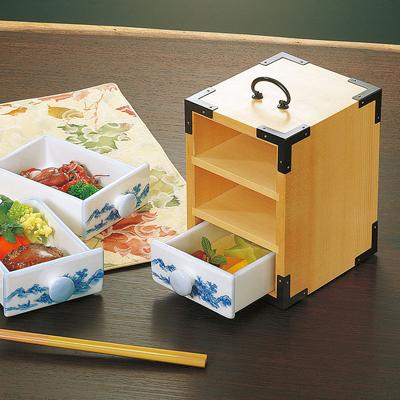 三段弁当(白木)木製/日本製/お弁当箱/おべんとうばこ/ナチュラル/ボックス/業務用