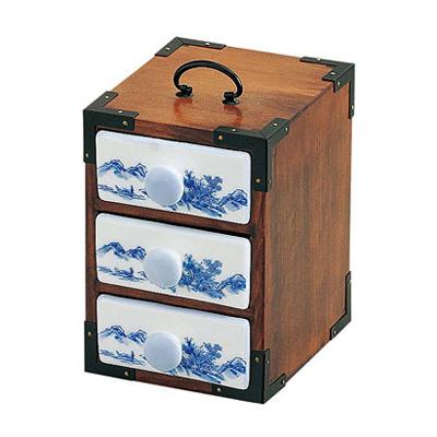 三段弁当(古代色)木製/日本製/お弁当箱/おべんとうばこ/ナチュラル/ボックス/業務用