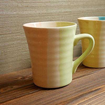 配色マグカップ(グリーン)