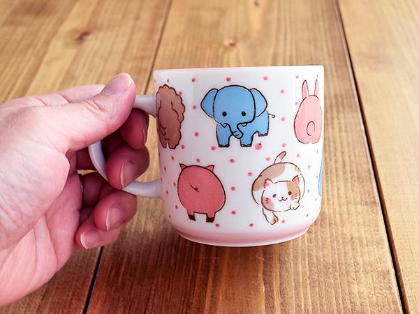 マグカップ 動物大好き 女の子用マグカップ/カップ/コップ/マグ/スープカップ/動物/どうぶつ/女の子/かわいい/子供/キッズ/子ども/園児/幼児/子供食器/キッズ食器/子供 用/おしゃれ