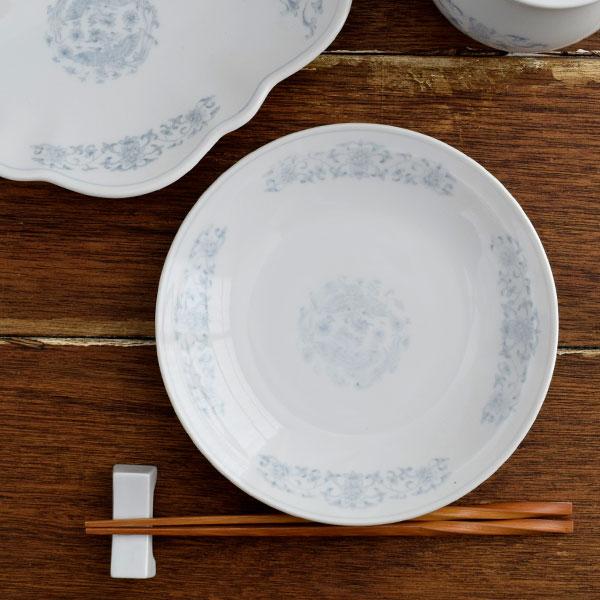 鳳凰 丸皿 18.5cm