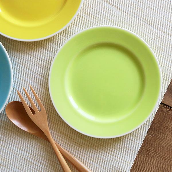 リムプレート17.5cm color ライムグリーン 中皿