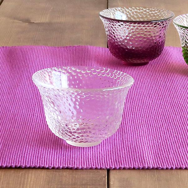 ぐい呑 ガラス製 水玉クリア