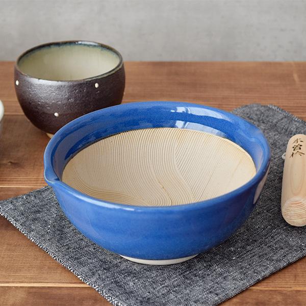 すり鉢(小) 波紋 17.5cm 群青色