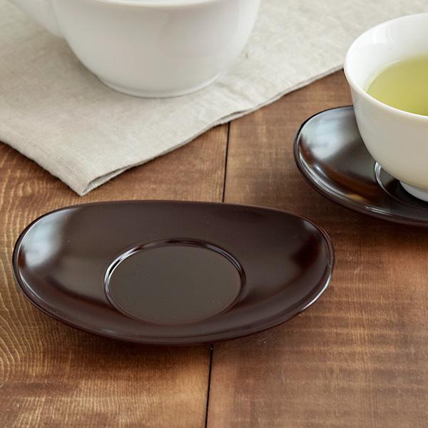 茶托 小判型 溜 食洗機対応