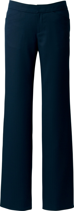 【パンツ】【ハネクトーン HANECTONE パンツ-5~19 A852】デュアルドビーストライプ 女性用 レディス 事務服 オフィス 受付 サービス 接客 股上浅め 滑り止め 両脇ポケット きれいめ ブラック ネイビー JAYRO【カウンタービズ Counter Biz】