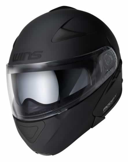 【WINS Modify(モディファイ)】 インナーバイザー付きフリップアップシステムヘルメット WILD MAX(ワイルドマックス) オールマットブラック