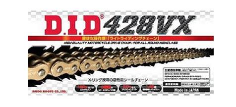 DIDチェーン 428VX 120L ゴールド FB(軽圧入クリップタイプ) 378253