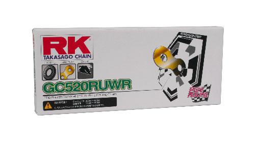 【ミドルクラスレース用 レース専用チェーン】RK ドライブチェーン GC520RUWR 130L ゴールド