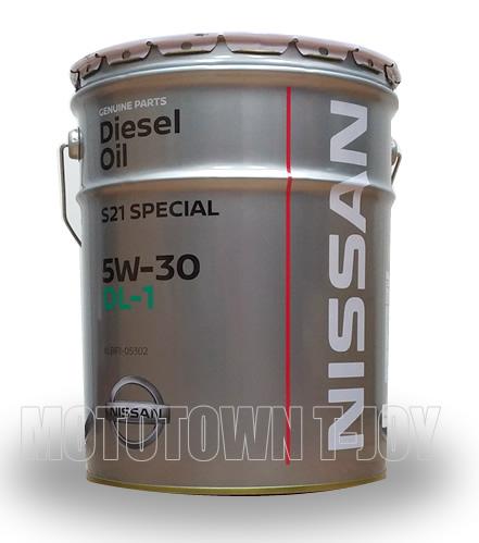 【同梱不可】 ニッサン純正オイル S21専用エンジンオイル DL1 5W-30 20L (KLBF1-05302)