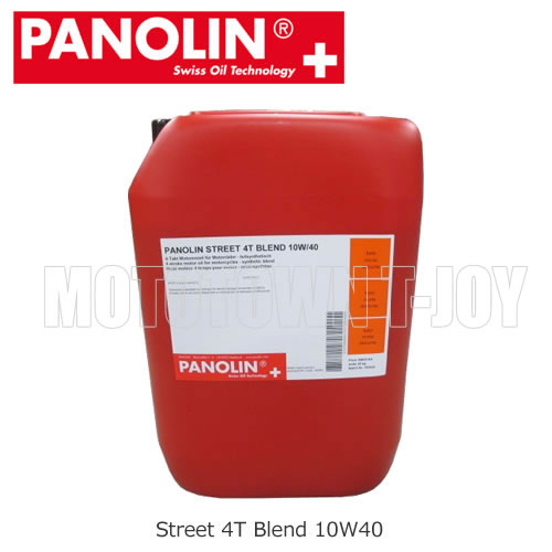 【同梱不可】【送料無料】 PANOLIN(パノリン)4サイクルオイル STREET 4T BLEND 10W40/15W50 【20Kg】ポリ容器