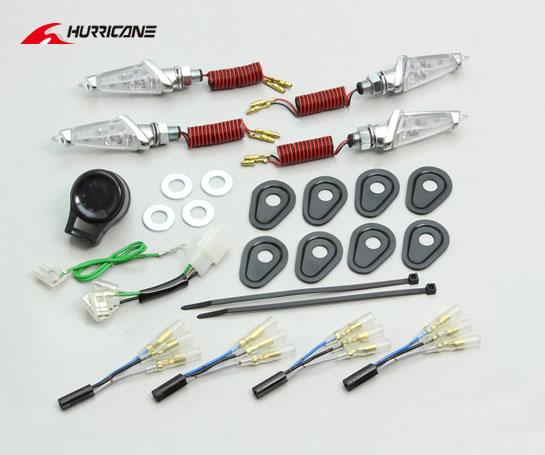 ハリケーン MT-07/MT-09TRACER/XSR900 LEDダガーウインカーKit メッキ クリアレンズ  HA5228MC