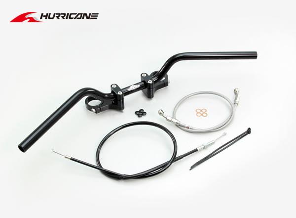 【ハリケーン】YZF-R25 BMコンチ2型 バーハンドルkit ブラック HBK684BS