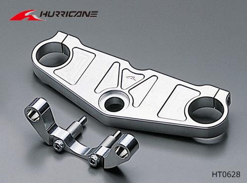 ハリケーン XJR1300/XJR1200用 ジュラルミン トップブリッジ ポリッシュアルマイト(セパレートハンドル用)  HT0628