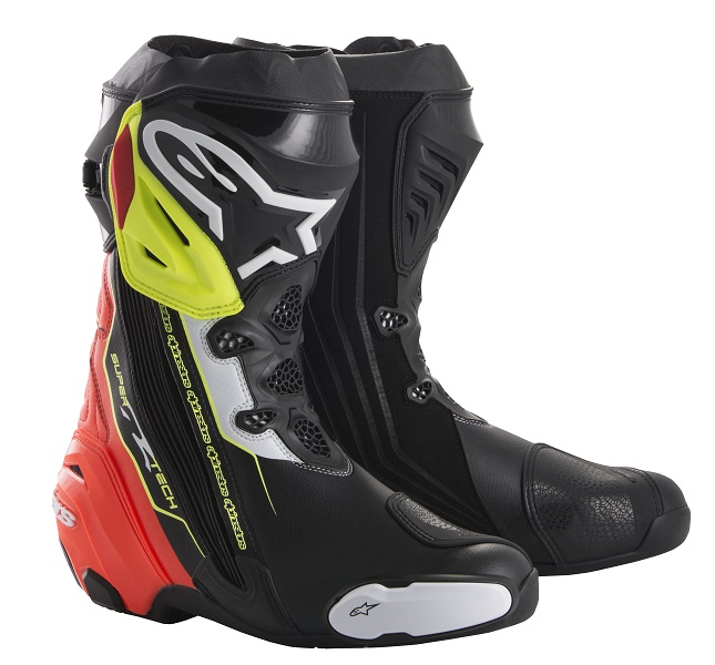 アルパインスターズ SUPERTECH-R BOOT 0015 136 BLACK RED YELLOW FLUO 43 27.5cm 924166